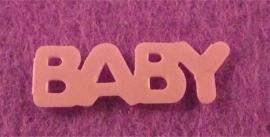 Decoratie woord baby roze