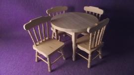 Eethoek met 4 stoelen (pp)