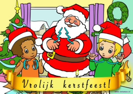 Kerstkaart Lotte & Max