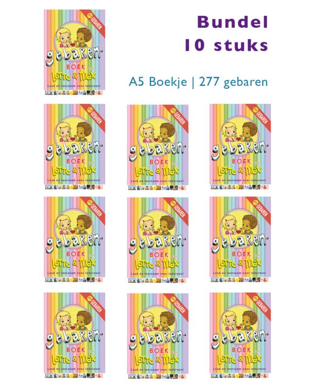 Bundel 10 stuks Gebarenboek A5