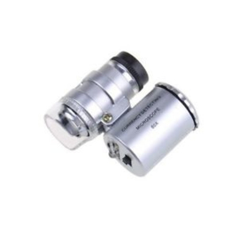 Mini 60X Microscope met  2-LED en 1 Currency Detecting UV Light