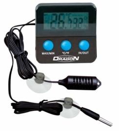 Thermo-Hygrometer digitaal, Min/Max, 2 watervaste voelers