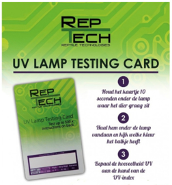 UV lamp testing card