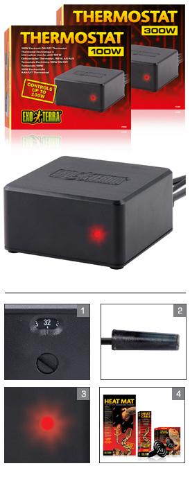 THERMOSTAAT TOT 300W ELECTRONISCHE AAN/UIT