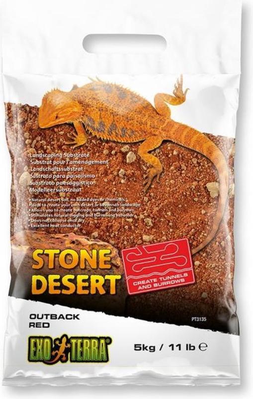 Exo Terra Stone Desert Substraat Outback Red Rood 10 kg
