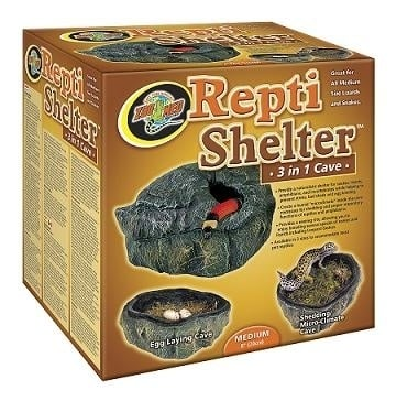Repti Shelter ™ 3 in 1 Cave 3 in 1  medium 19x17x9 cm