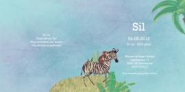 Geboortekaartje Sil | wilde dieren