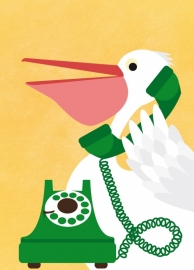 Postcard The telephonist