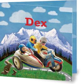 Geboortekaartje Dex  | motor baby