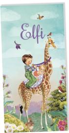 Geboortekaartje Elfi | 2e kind giraffe meisje