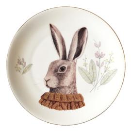 Bord konijn portret