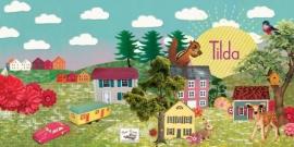 Geboortekaartje Tilda | landschap huisjes  meisje