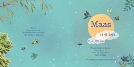 Geboortekaartje Maas | vliegende vogels jongen