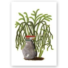 Poster Huis op rots A3