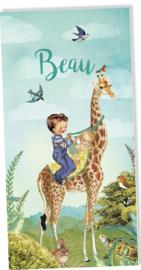 Geboortekaartje Beau | 2e kind giraffe jongen