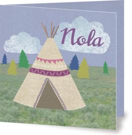 Geboortekaartje Nola | tipi meisje