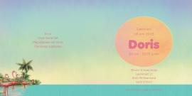 Geboortekaartje Doris | flamingo