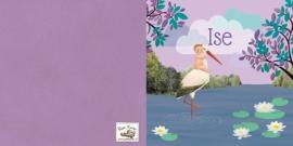 Geboortekaartje Ise | kindje met ooievaar lila
