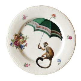 Bord aapje met paraplu