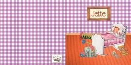 Geboortekaartje Jette | retro kamertje meisje