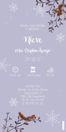 Geboortekaartje Nieve | Winterlandschap