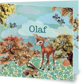 Geboortekaartje Olaf | hertje konijntjes jongen