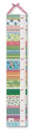 canvas zeil Groeimeter linten