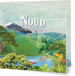 Geboortekaartje Noud, landschap kamperen