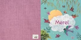 Geboortekaartje Merel | vliegende vogels meisje