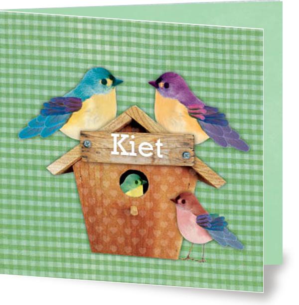 Geboortekaartje Kiet | 2e kind vogelhuis broertje en zus