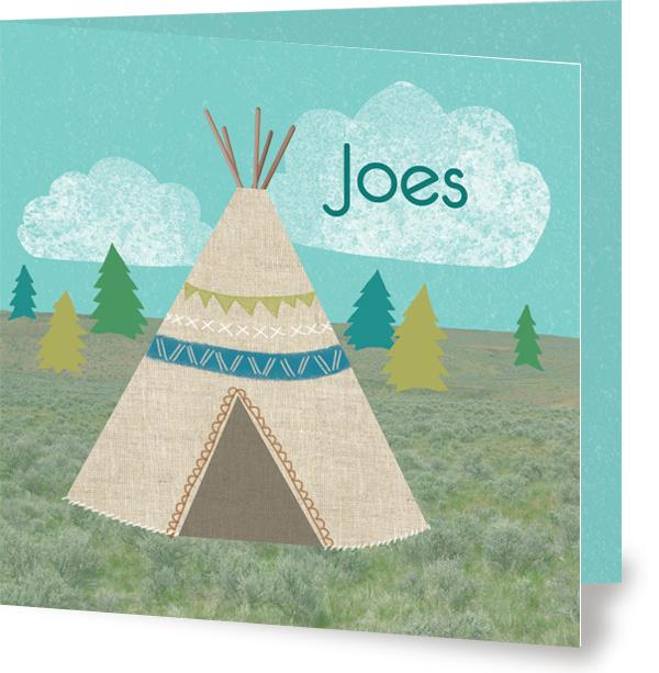 Geboortekaartje Joes | tipi jongen