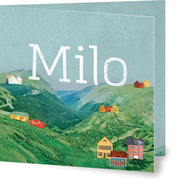 Geboortekaartje Milo | berglandschap jongen