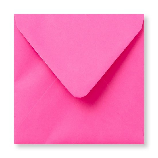 knalroze enveloppen 14 x 14 cm SALE € 0,15 per stuk
