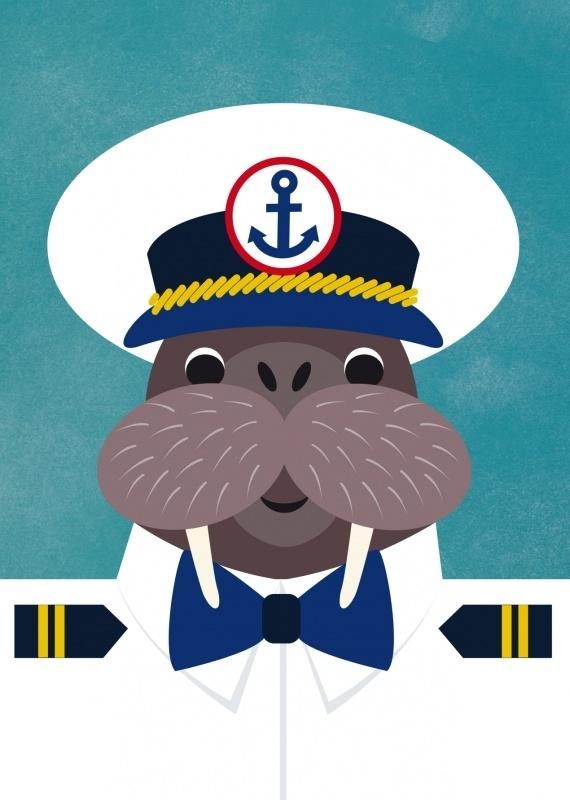 Postcard The captain