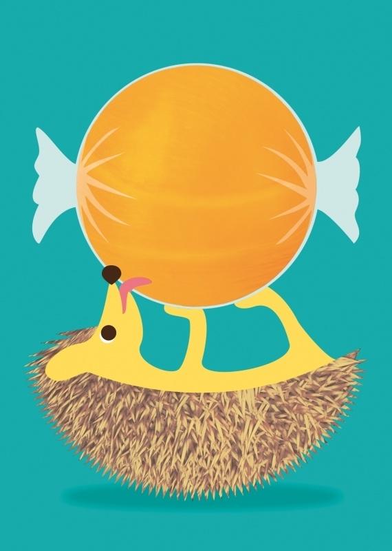 Postcard Hedgehog sweetie