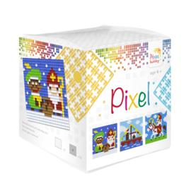 Pixelhobby kubus met 3 schilderijtjes - Sinterklaas
