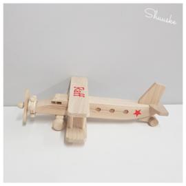 Houten Vliegtuig met Naam | Vliegtuig