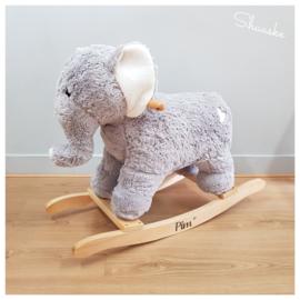Houten Hobbelolifant met naam | Hobbelolifant Pluche met naam | Jabadabado Rocker Elephant