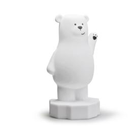 Lou de beer nachtlampje met naam | Atelier Pierre Nachtlampje - Wit