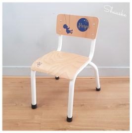 Industrieel Kinderstoeltje in Stijl Geboortekaartje | Childhome Kinderstoeltje metaal