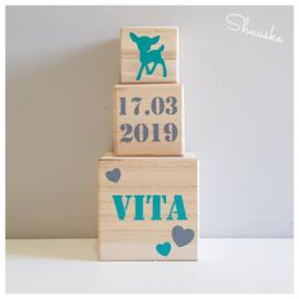 houten blokken met naam - 8