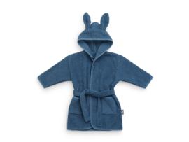 Jollein Badjas Badstof - 1 tot 2 jaar - Jeans Blue   Baby Badjas met naam