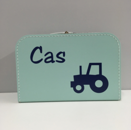 Kinderkoffertje met naam en traktor