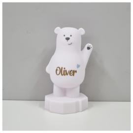 Lou de beer spaarpot met naam   Atelier Pierre Spaarpot   Money Box Wit