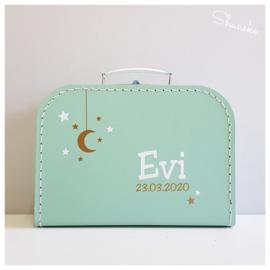 Kraampakket koffertje met naam en Happy Horse knuffel - To The Moon And Back | Kraamcadeau pakket met naam | Voordeelpakket