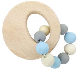 Rammelaar cirkel (naturel/blauw)