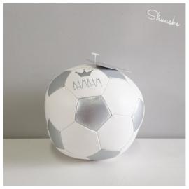 Kraampakket leren BamBam Voetbal en Spaarpot met naam | Goal Getter Voordeelpakket Klein