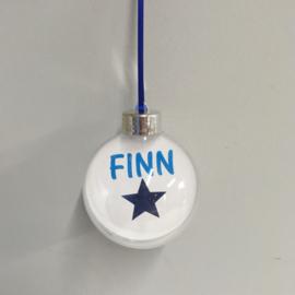 Kerstbal met naam  -  Blauw