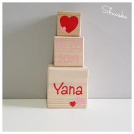 houten blokken met naam - 3