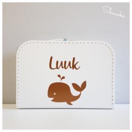 Kinderkoffertje met naam en walvisje | I Whale always Love you | Kraamcadeau met naam